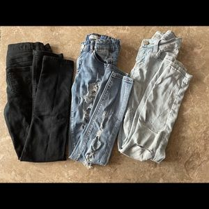 Jeans bundle 3 pairs girls Justice & urban girls